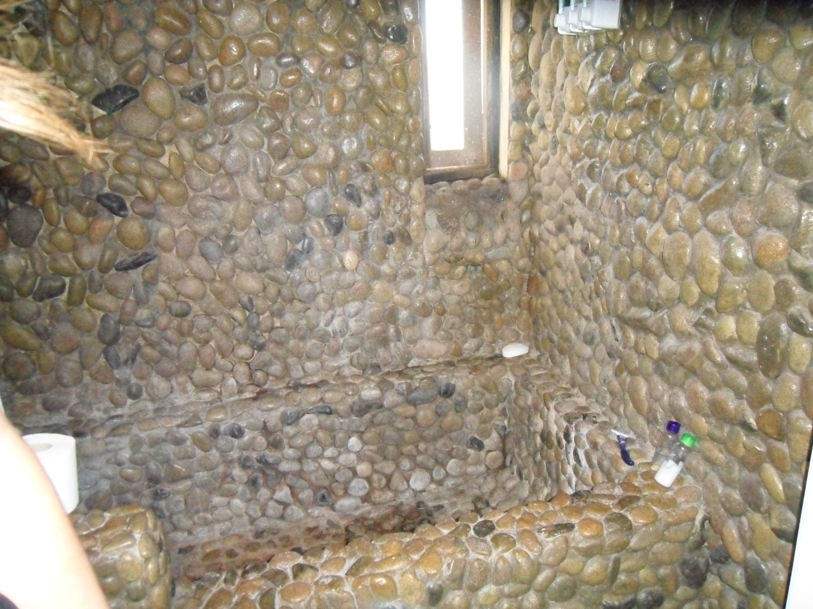 cool bathroom in this Southwestern style rental property